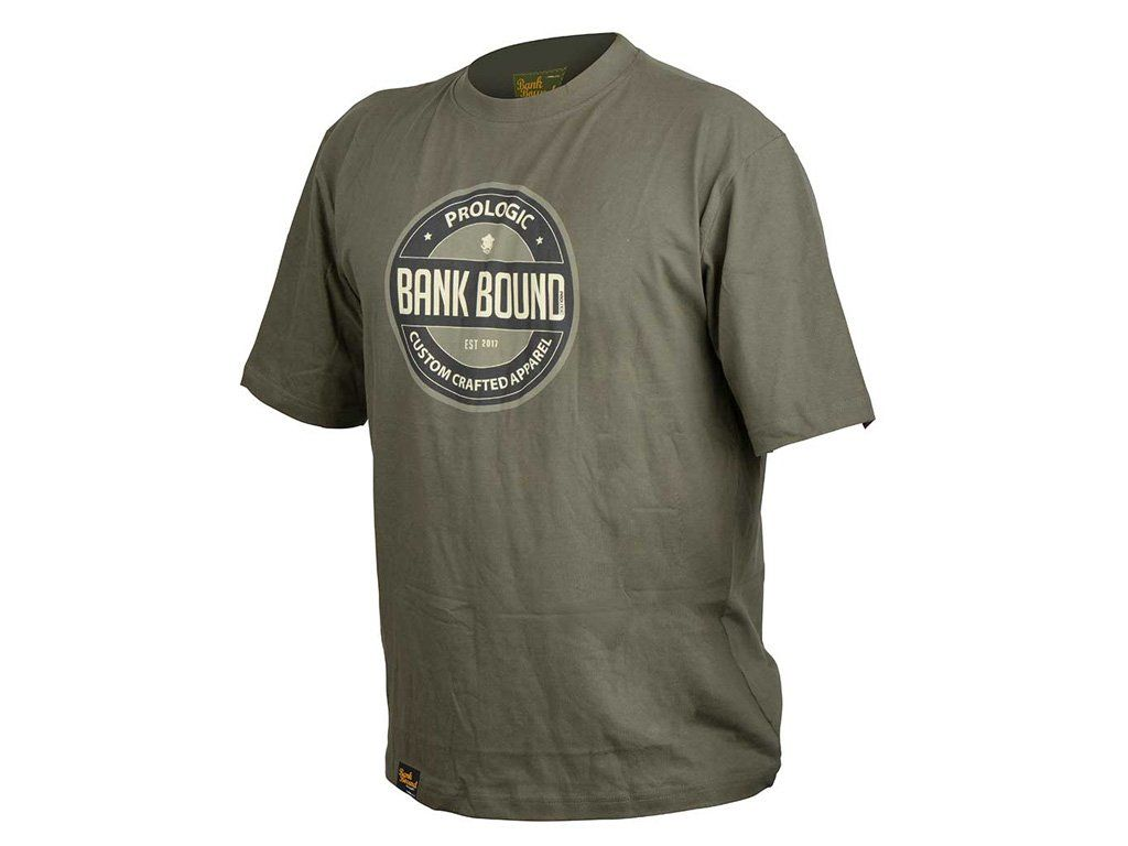 Prologic Bank Bound Badge Tee Green XL