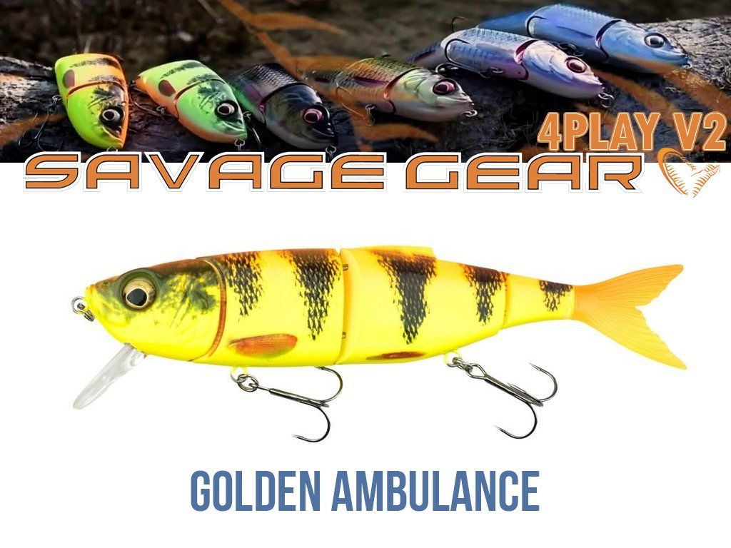 Savage Gear 4Play V2 Liplure 13.5cm, 18g, SF06-Golden Ambulance