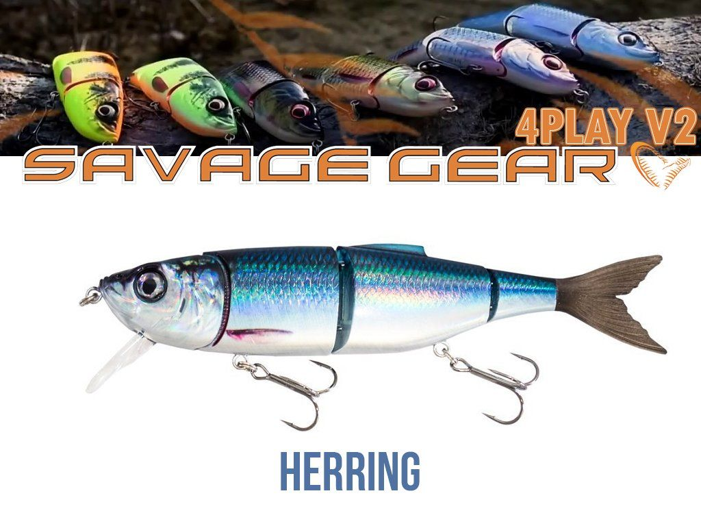 Savage Gear 4Play V2 Liplure 16.5cm, 32g, SF01-Herring