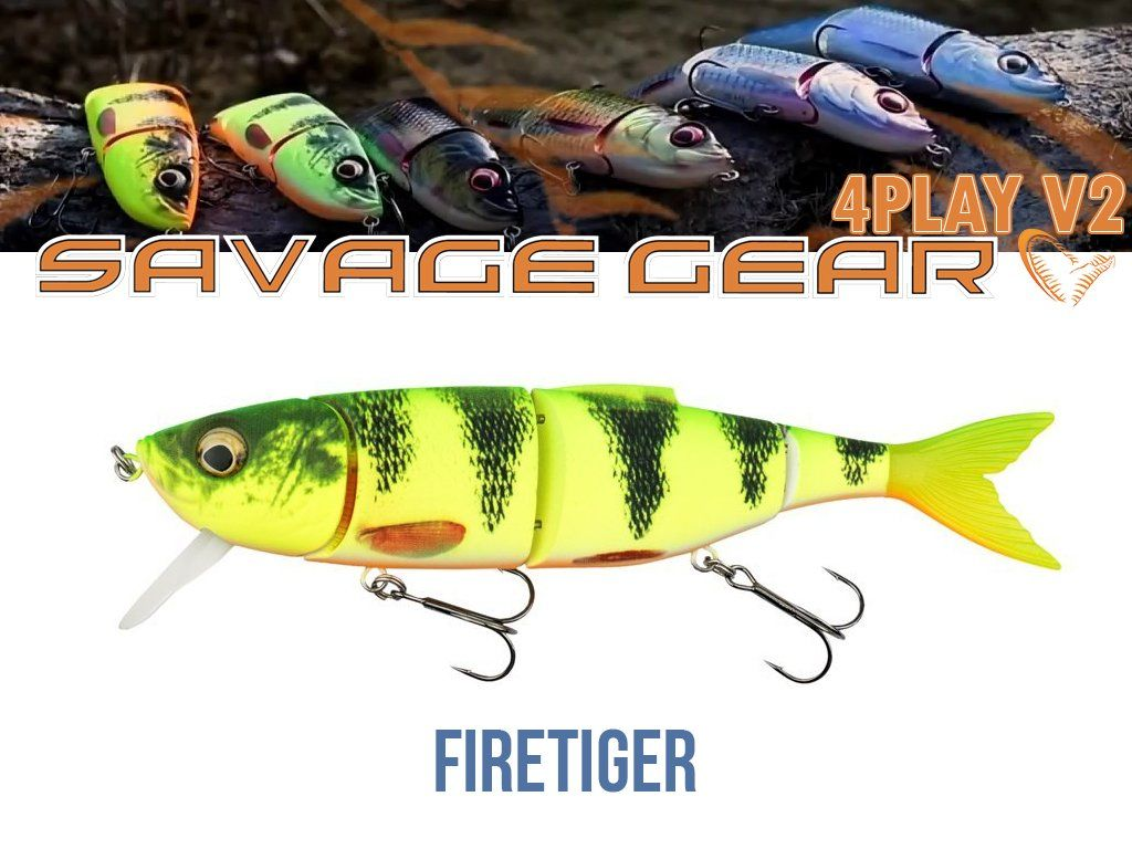 Savage Gear 4Play V2 Liplure 16.5cm, 32g, SF05-FireTiger