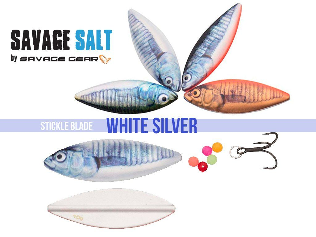 Savage Gear LT Stickle Blade 5.2cm, 10g White Silver