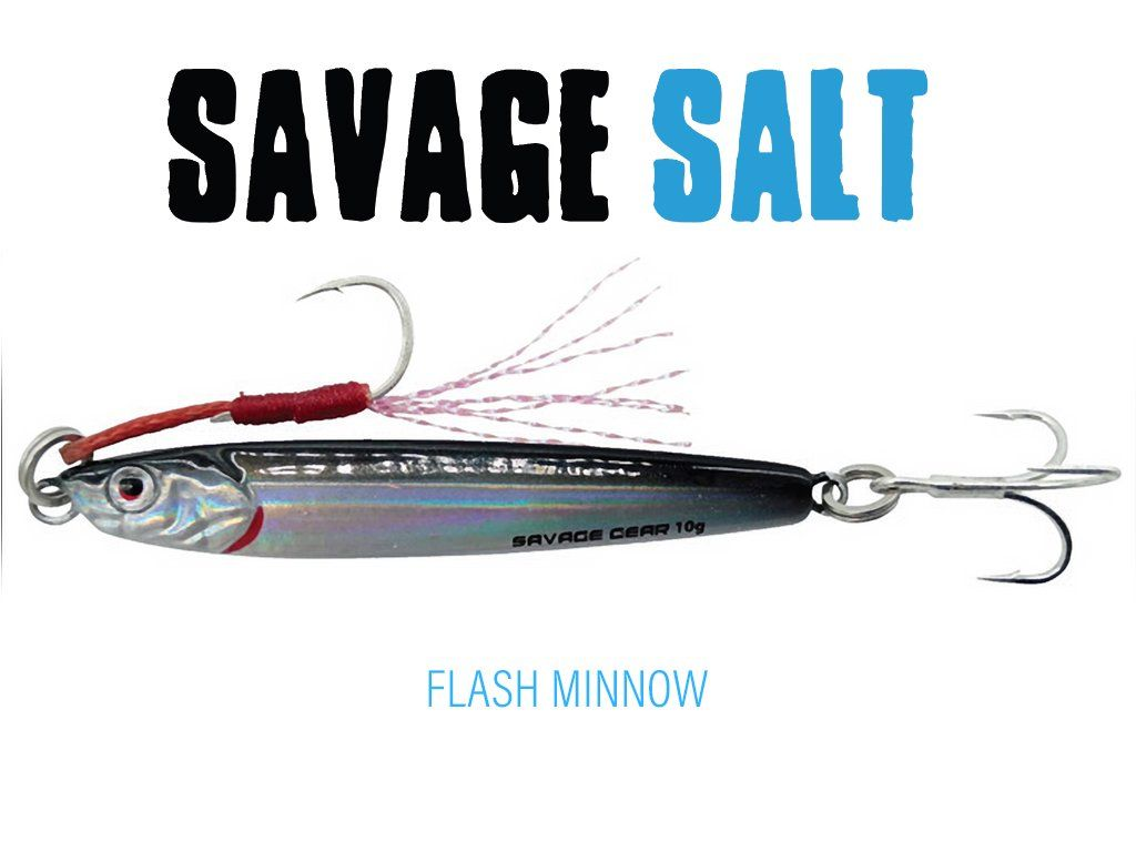 Savage Gear 3D Slim Minnow Jig 6.8cm, 15g Flash Minnow