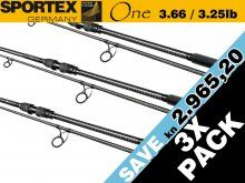 Sportex One 3.66m, 3.25lbs 3X Pack