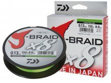 Daiwa J-Braid x8 Chartreusse 0.13mm, 150m