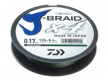 Daiwa J-Braid X4 Dark Green 135m, 0.10mm
