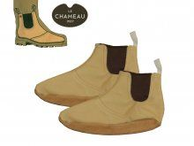 Le Chameau BCB1140 Full Grain Leather Insoles for Rubber Boots, Size 40