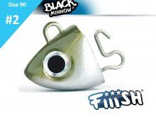 Fiiish Black Minnow Jig Head Search Kaki 8.0g, 2pcs