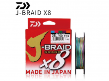 Daiwa J-Braid Grand x8 Multicolor 150m, 0.18mm