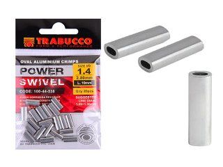 Trabucco Oval Aluminium Crimps 1.2x2.4x10mm