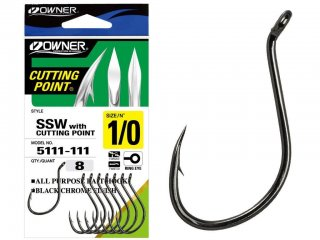 Owner SSW With Cutting Point 5111, black-chrome, 3/0